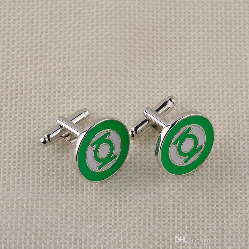 High Quality Men's Cufflinks Green Lantern Gentleman French Fashion Cuff Nails Button For Men Vintage Jewelry zj-0903803