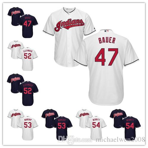 3ac4d9962 ... Alternate Authentic 2017 2016 Champions Youth Kids Cleveland Indians  Jersey 47 Trevor Bauer 52 Mike Clevinger 53 Jeff ...