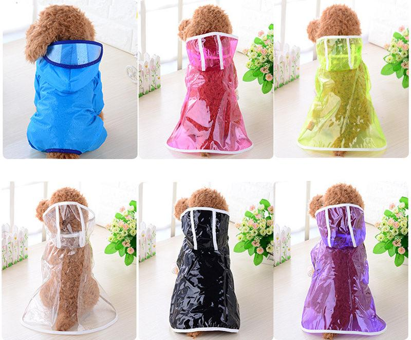 Pet Rain Coat Raincoat Outdoor Dog Jacket Puppy Clothes Waterproof Transparent