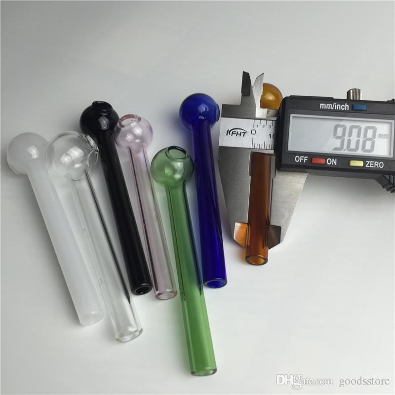 10см красочные ручной стекло масло горелки для курения Pyrex стекло масло горелка трубы дешевые трубы густое масло горелка, барботер