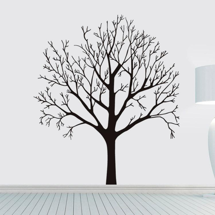 57 x 68CM Big Tree Wall Stickers Removable Living Room Bedroom Wall Decals Luxuriant trees in Black Brown Wallpaper Poster Home Decor Mural