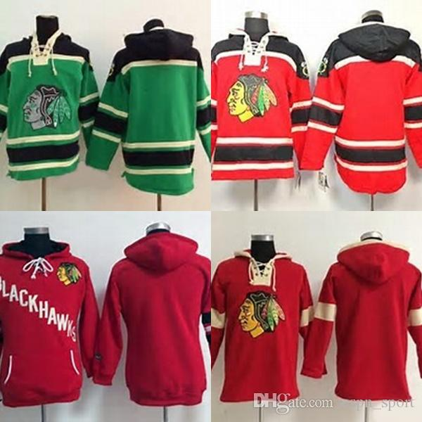 32de5aa97 2019 Hot Sale Cheap Mens Blank Chicago Blackhawks Stitched Sewn Any Name   Any No. Ice Hockey Hoodies Sweatshirt Jerseys Accept From Espn sport