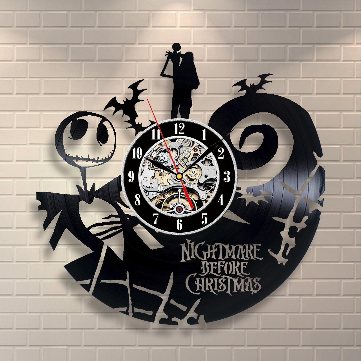 The nightmare before christmas jack skellington gift wall clock the nightmare before christmas jack skellington gift wall clock story design clock wall christmas gift for friendhomeoffice and room decor massive wall amipublicfo Choice Image