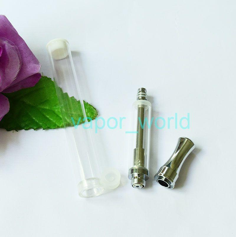 CE3 Glass Cartridges CE3 Pyrex Glass Dual Coil Thick Oil Glass Tank Wax Vaporizer 510 Thread 0.5 1.0ml Clearomizer
