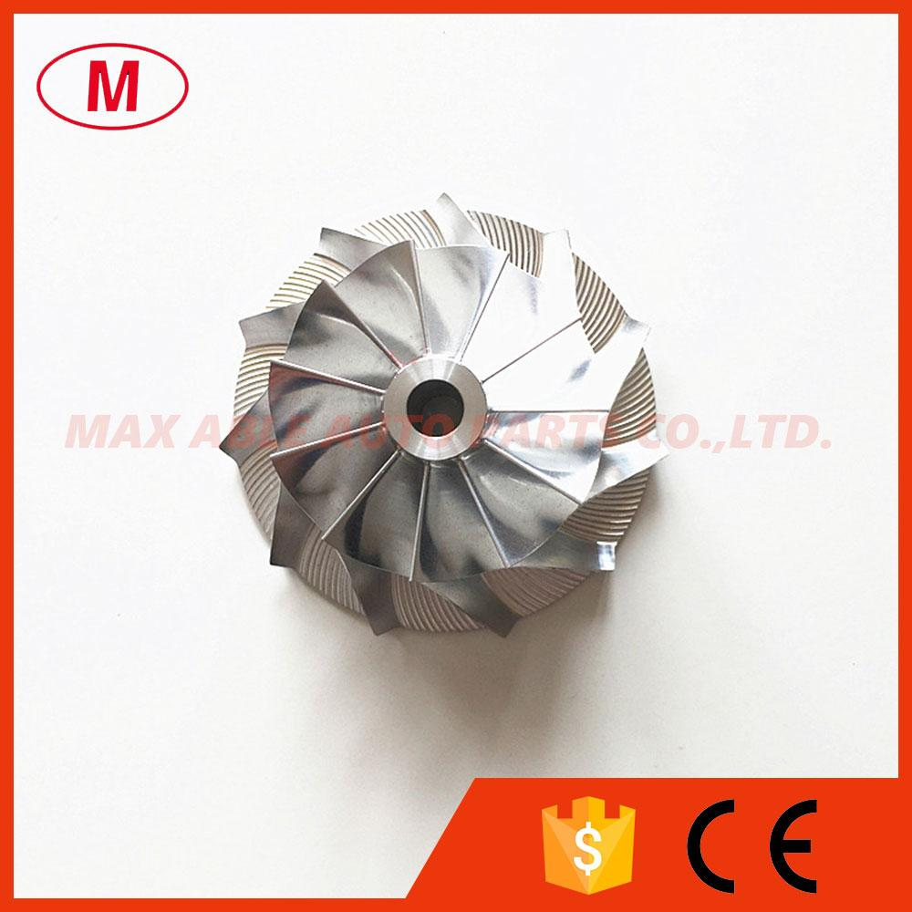 CT26 Alto rendimiento Turbo Aluminio 2024 / Fresa / Rueda compresora Billet 39.65X57.00mm 11 + 0 cuchillas para TOYO * TA CT20 54030 turbo