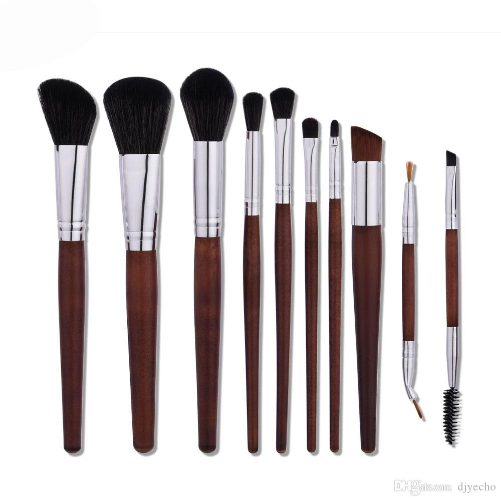 0d93b4abd55e Vanderlife Professional 10pcs Makeup Brushes Set Powder Foundation Lipstick  Brush Eyeshadow Cosmetics Blending Kits Pincel maquiagem