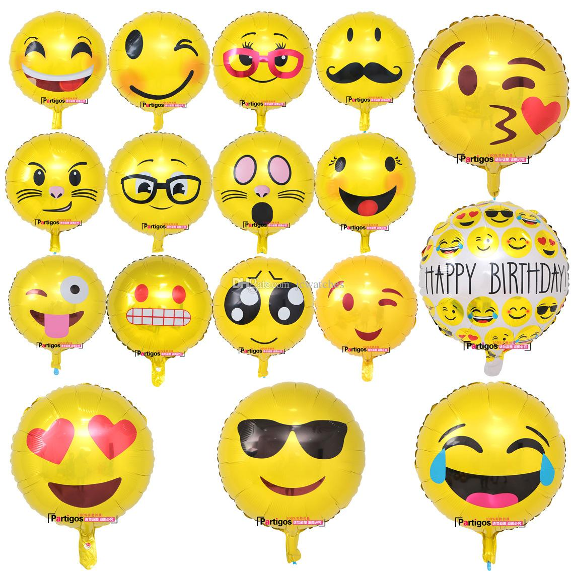 2019 18inch Emoji Balloon Helium Foil Balloons Party Decorations 13 Style Inflatable Balls Birthday Decor From Jcwatches 035