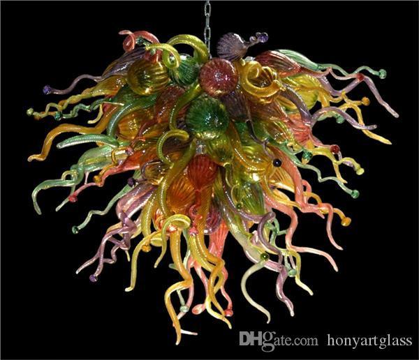 AC Led Bulbs 110v/240v Glossy Cheap Handicraft Fancy Hand Blown Glass Pendant Lighting