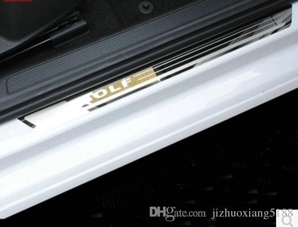 Para VW Volkswagen Golf 7 Mk7 Sillín de puerta Scuff Plate Guard Inoxidable Puerta Sills Pedal Car Styling Accessories 2014 2015 2016