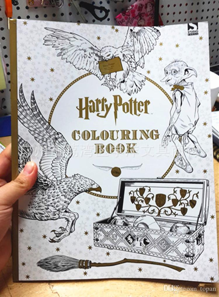 2016 hottest adult coloring books harry potter colouring books secret garden series for adult relieve kill time art therapy