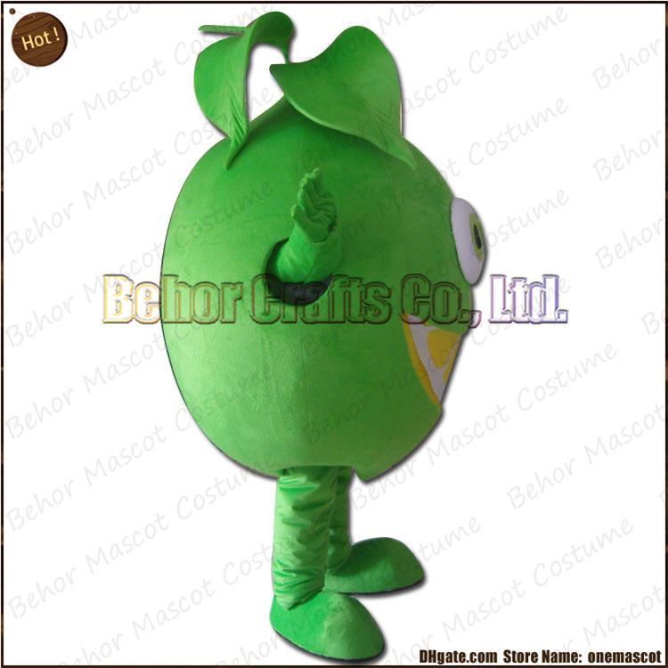 limão traje da mascote frete grátis, de alta qualidade barato mascote de pelúcia mascote dos desenhos animados adulto, aceitar a ordem DO OEM.