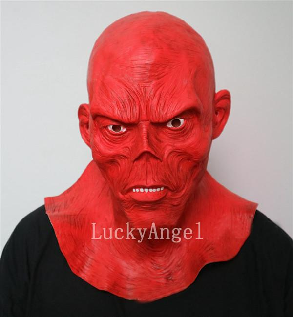 Whlosale Halloween Devil Red Skull Mask Horro Full Head Ghost Mask Latex Movie Monster Mask Halloween Cosplay Haunted House Props Supply