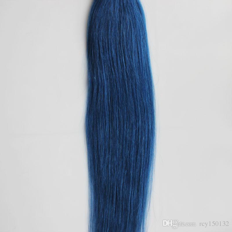 Blue tape in human hair extensions Non-Remy Brazilian Straight Hair 30g 40g 50g 60g 70g Skin Weft human hair bundles