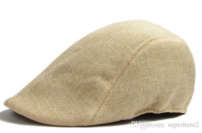 Women Men Retro Cap Peaked Beret Fashion Linen Cotton French Newsboy Visor Golf Driving Flat Cabbie Artist Hat xmas GIFT