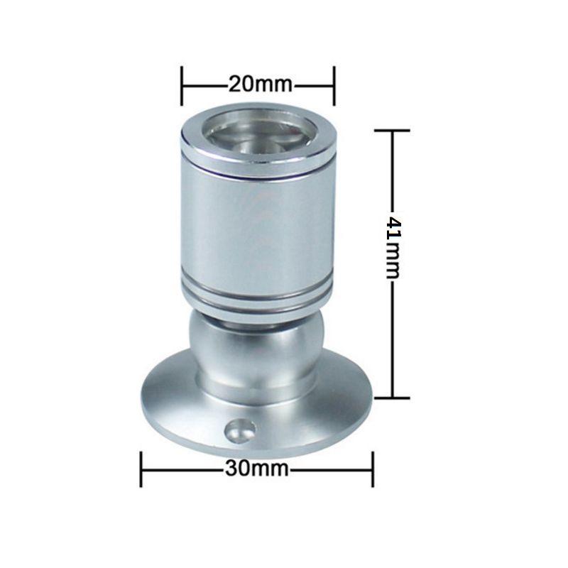 Mini LED Noir / Argent En Aluminium Bijoux Lumière Cabinet Lumière Plafond LED Spotlight Lumière Avec Driver DC12V 1W Pur Blanc Chaud