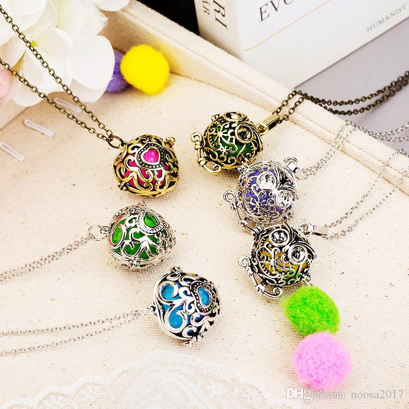 2017 Chimes Pregnancy Ball necklace Mexico Owl Aromatherapy Hood Necklace Variety of Cages Pendant Lockets perfume necklaces Women Gifts