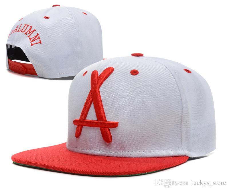 Tha Alumni Snapback Caps white A letter Hip Hop Sport Hats Baseball Snap back Flat Brim Hot Brand New style adjustable Cap for men women