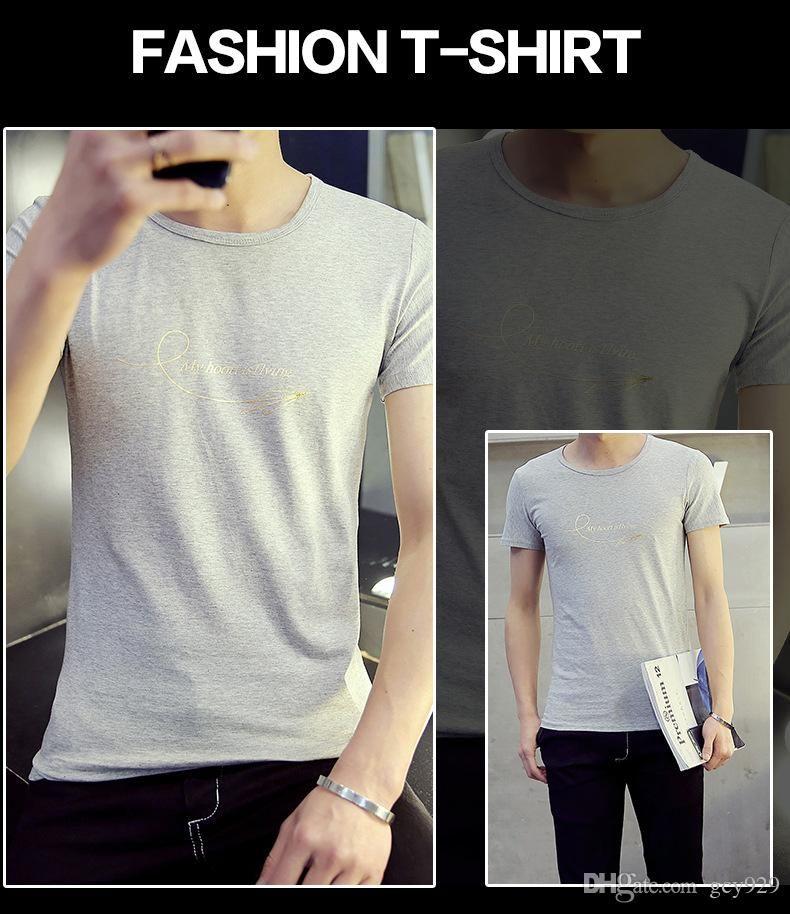 a4a02ba76 The New Summer Men s Printed Short-sleeved Men s Casual Short ...