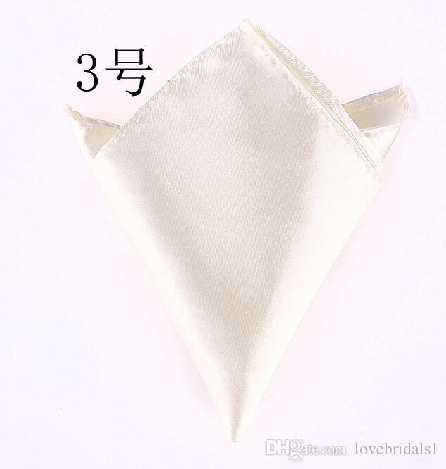 Vente chaude cravate pour hommes costumes de poche serviettes mouchoirs de couleur unie petit mariage carré banquet de mariage cravate livraison gratuite