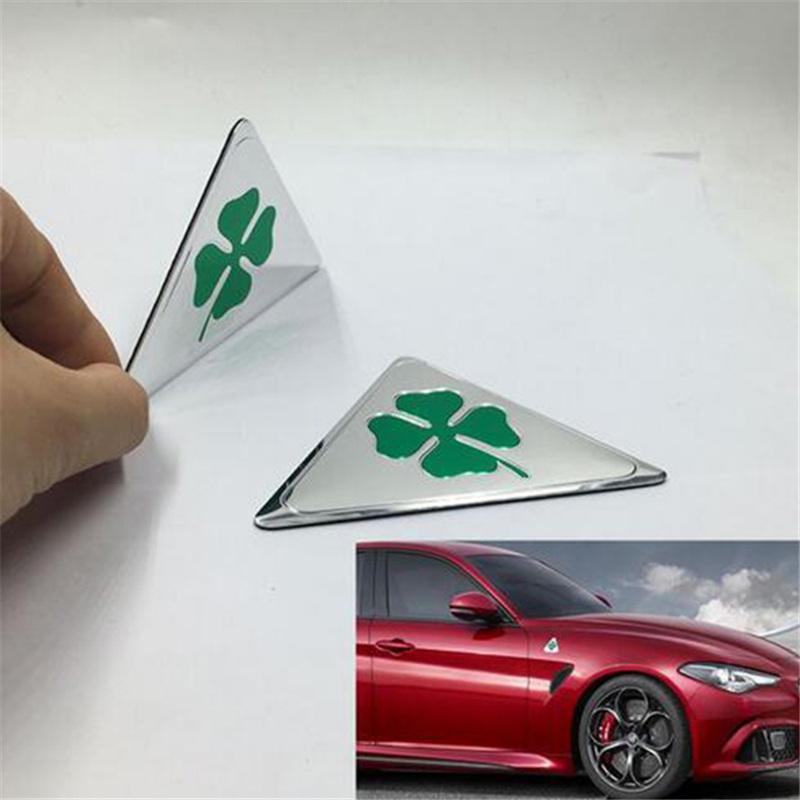 Alumínio Verde Cloverleaf Adesivos de Carro para Alfa Romeo MiTo GIULIETTA Giulia Aranha GT147 156 166 159