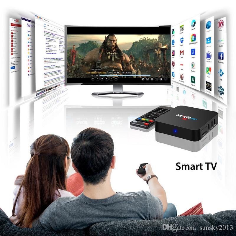 4GB 32GB TV Box Android 8.1 RK3328 Quad Core MXR Pro Smart Mini PC 4K 3D KD17.3 Media Player 2.4G Wifi Set Top Box 4G RAM 32G ROM