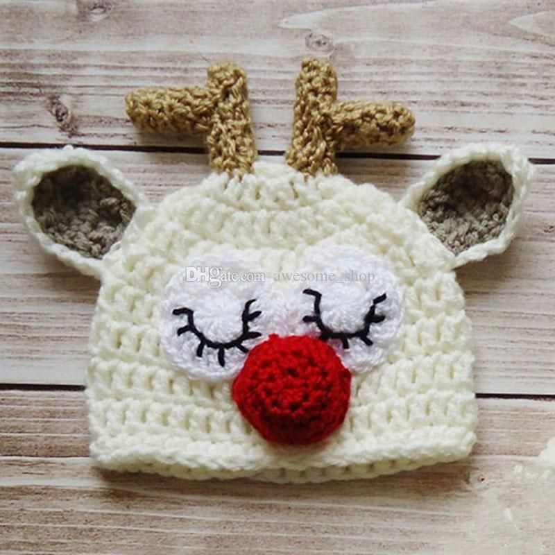 c649d778ed510 2019 Adorable Crochet Sleepy Reindeer Hat