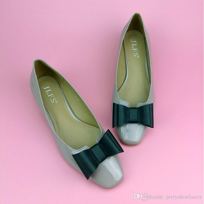 Korean Style Black Elegant Shoes Decoration PU Leather Bowknot Detachable Shoes Accessories For Women's Shoes High Heels