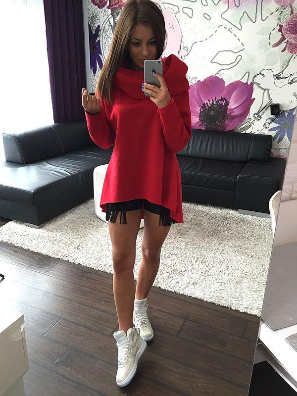 Hot Fashion Hoodie Unregelmäßige Rollkragen Schal Kragen Sweatshirt T-Shirt Langärmelige Shirt Rock Warmer Schal DCS-1555