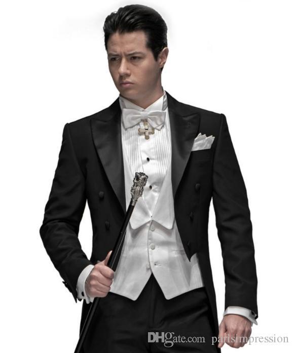 2017 New Black Best Men Wedding Suits Groom Tuxedos Groomsman ...