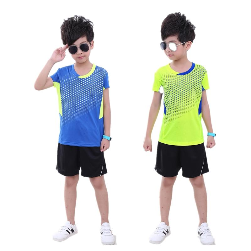 New children badminton t-shirt suit,short sleeved summer children quick dry tennis jerseys,boy/girl table tennis sportswear (shirt + shorts)