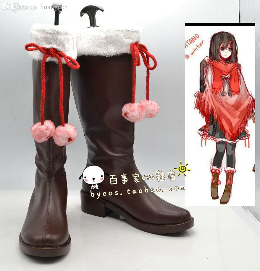 Wholesale-Kagerou Project Tateyama Ayano MekakuCity Actors Cosplay Boots Shoes  Shoe Boot #NC060 Anime Halloween Christmas Christmas Elf Fancy Dress ...