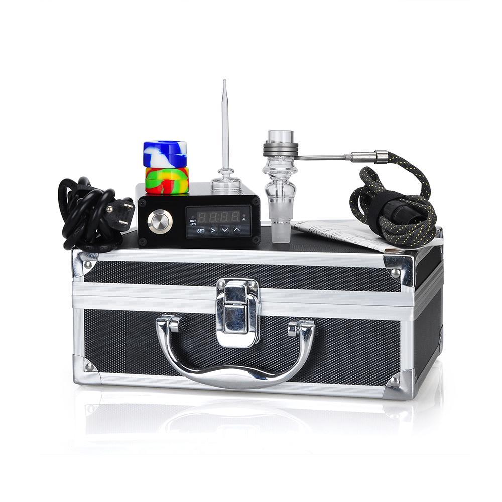 Vaporizer E Quartz Nail Electric Dab Nail Box Kit Quartz Nail Carb Cap 14 18 MM Female Temperature Controller Rig glass Bongs