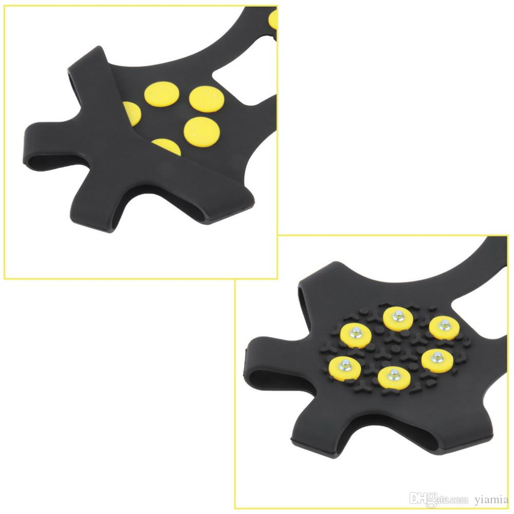 10 Studs Anti-Skid Snow Ice Thermoplastic elastomer Climbing Shoes Spikes Grips Cleats Over Shoes Covers Crampons