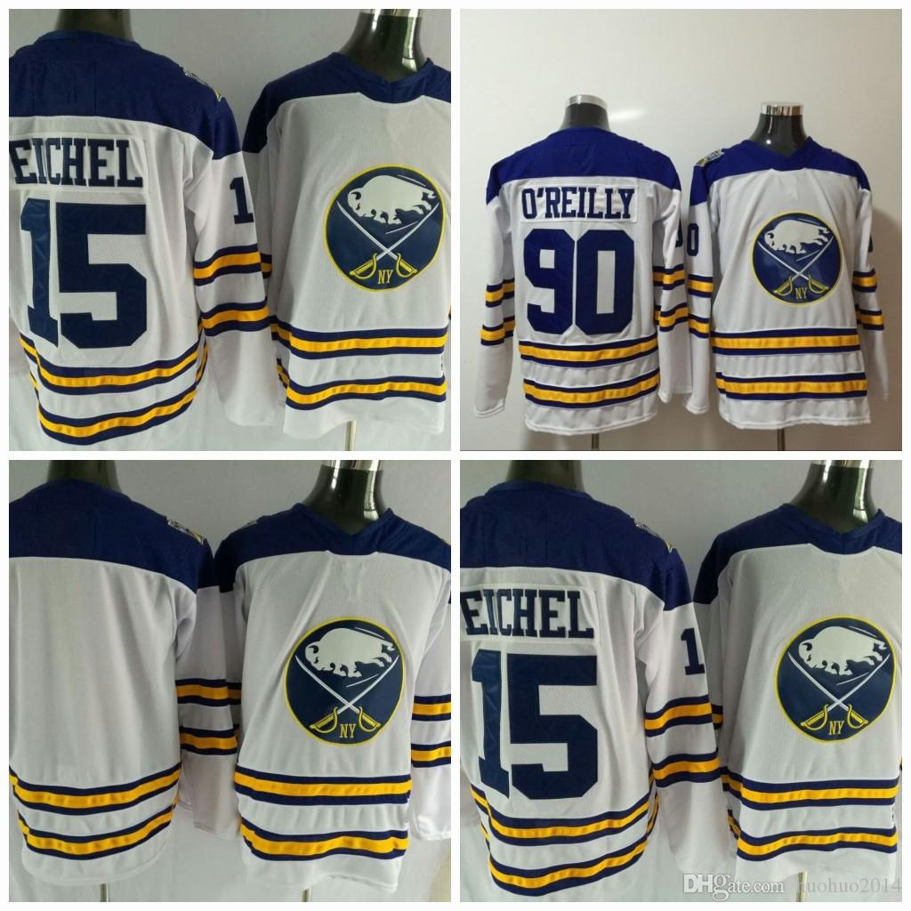 cheap for discount cbac6 d0122 #15 Jack Eichel 2018 Winter Classic Buffalo Sabres Jersey 90 Ryan O'Reilly  lieu Hockey Jerseys All Stiched
