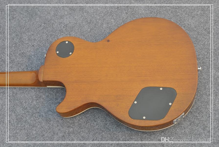 Коричневый пользовательские змея инкрустация Ладу доска Слэш электрогитары Китай гитара завод продаж
