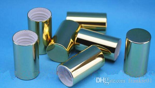 롤 볼 병 1ml 2ml 5ml 10ml 15ml 에센셜 오일 향수 병 골드 실버 알루미늄 캡