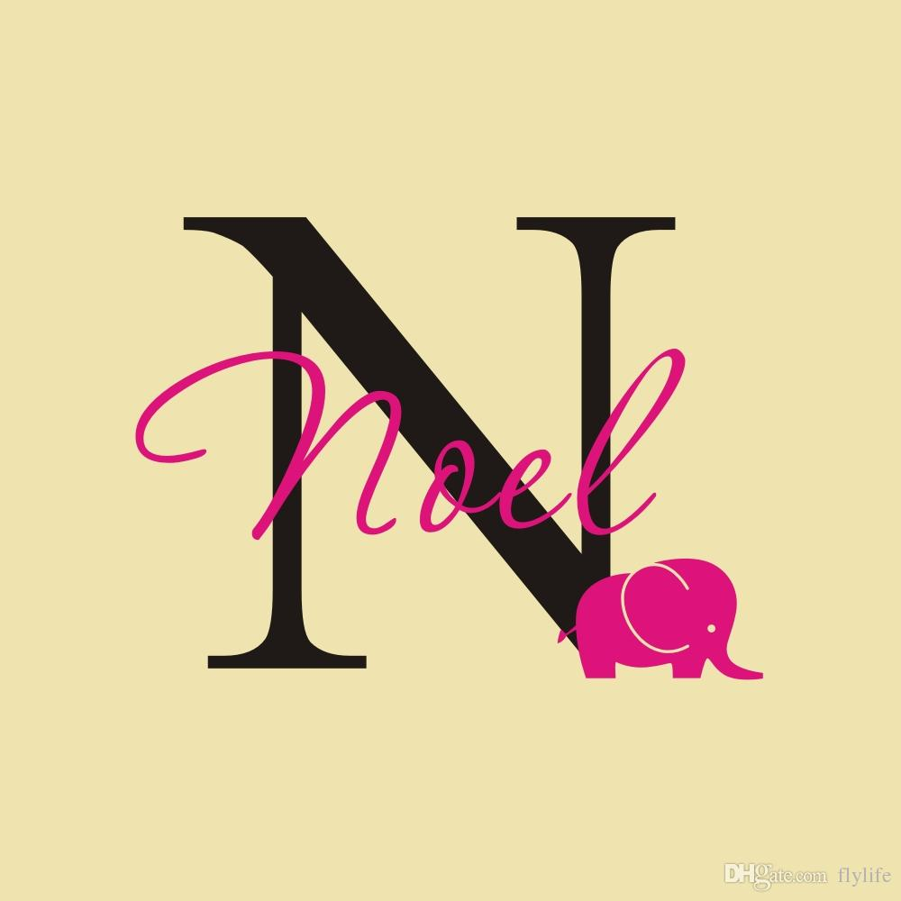 Custom Personalized Any Kids Name Elephant Wall Decal Sticker For ...