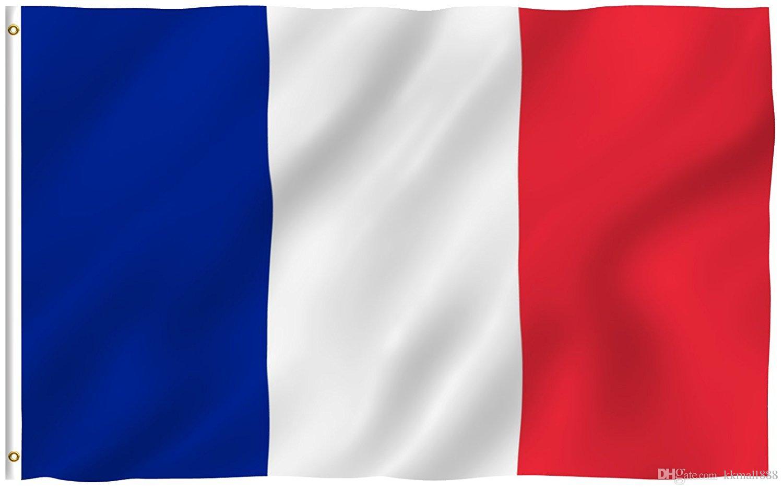 Satın Al 90x150cm Fransa Bayrağı Canlı Renk Ve Uv Solmaya Dayanıklı