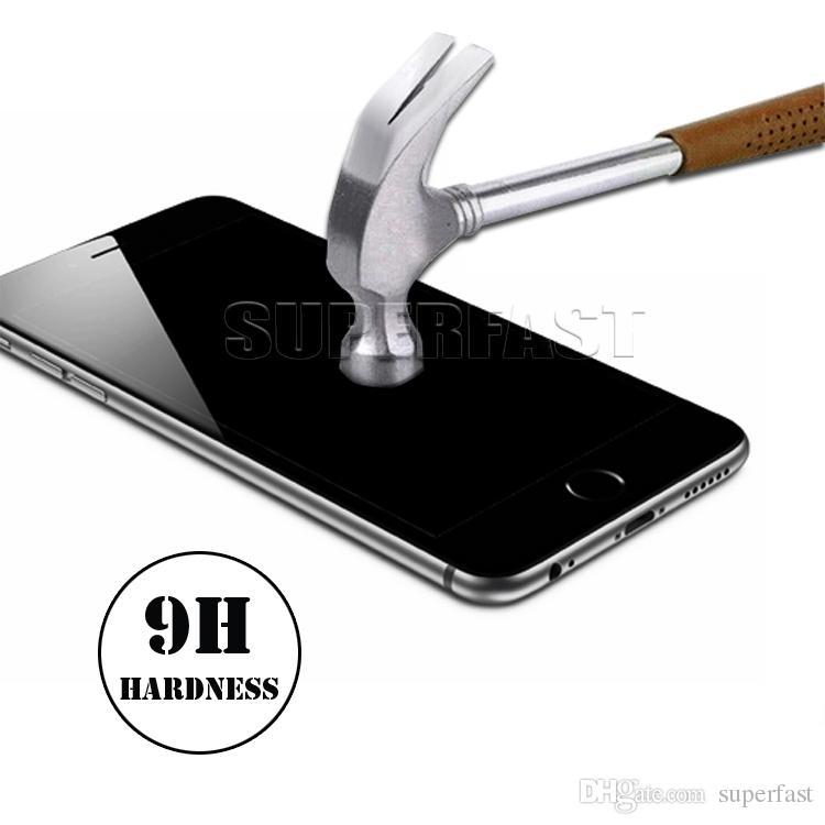 Vidrio de privacidad para iPhone X XS MAX Protector de pantalla 9H Pantalla antirrespía para Samsung S3 Galaxy S6 Note 5 en paquete al por menor