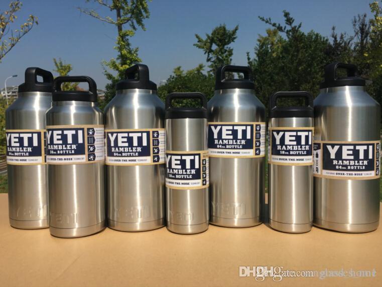64 Oz Yeti Rambler Bottle Stainless Steel Cups Large Capacit Cooler
