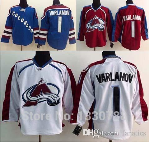 f477e1081d2 ... coupon for 2018 hockey jerseys colorado avalanche 1 semyon varlamov  jersey home red white road blue ...