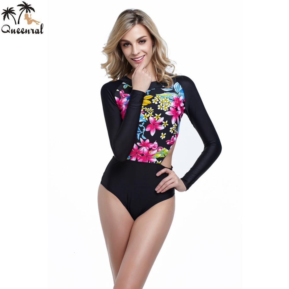 72f4b537ac83 2019 Wholesale One Piece Swimsuit Long Sleeve Biquini Brasileiro ...
