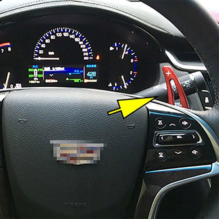 Livraison gratuite Brand New Alliage Add-On Volant En Aluminium Shift Paddle Shifter Extension Pour Cadillac XTS