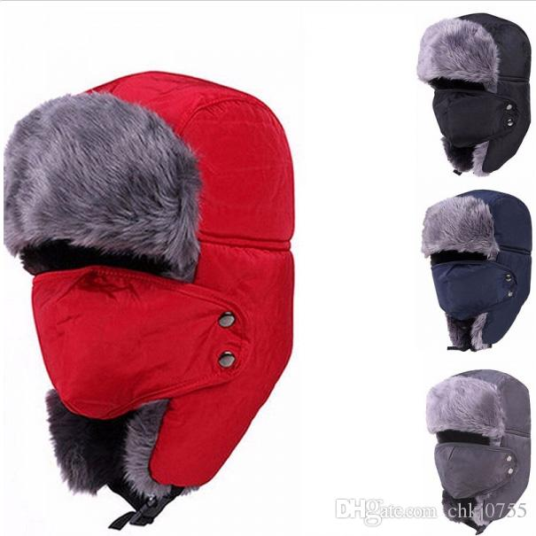 0720cca2c85 2019 Unisex Nylon Faux Fur Cotton Material Cap Outdoor Ski Ear Protective  Hat With Mouth Mask Ideal For Winter Outdoor Sports From Chkj0755