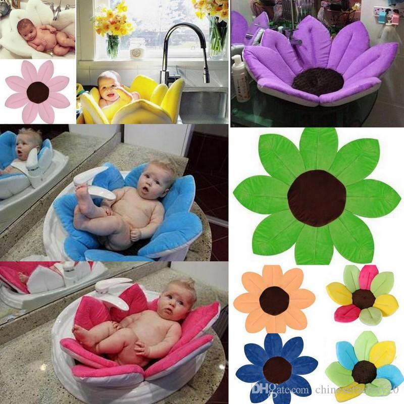 Baby Flower Blooming Bath Newborn Baby Bathtub Foldable Sunflower ...