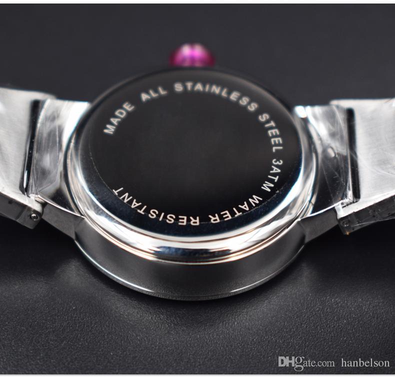 Moda bayanlar Fan şekilli çelik st saatler Sözleşmeli üç İğneler Elmas ölçekli Takvim moda Kelebek kuvars İzle Ücretsiz kargo