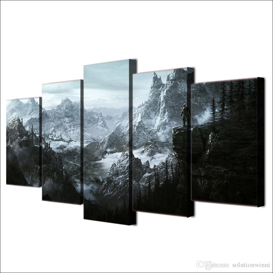 Dragon Game Canvas Paintings Home Decor Wall Art Framed Posters HD Prints Pictures Painting
