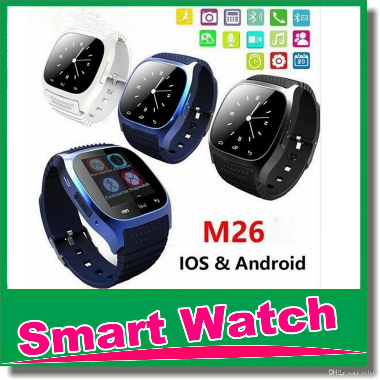 7a2ae4249ea8a9 Smart Watch Bluetooth M26 Smartwatch Support SIM TF Card Smart Wrist Watch  With Silicone Strap Smartphone SB M26 2015 Smart Watch All Smart Watches  From ...