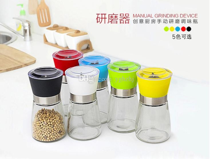 Creative kitchen products,Manual pepper mill,Pepper mill,Seasoning bottle,Black pepper mill,
