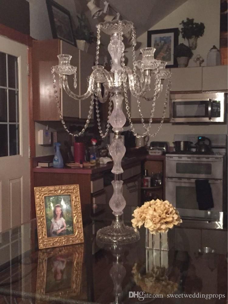 kandil akrilik Düğün centerpieces, Mumluk, mumluk, Mum çiçek standları